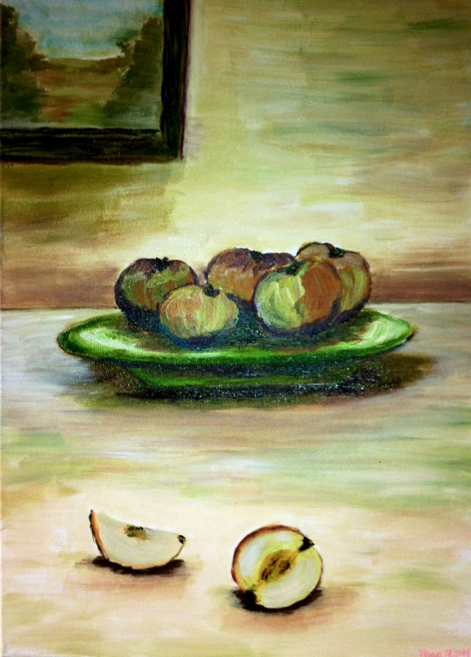 piatto con mele