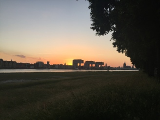 Sonnenuntergang von der Schäl Sick aus